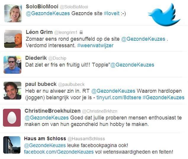 Twitter quotes gezondekeuzes